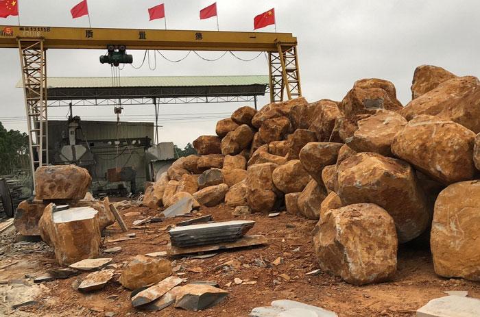 矿山荒料石材